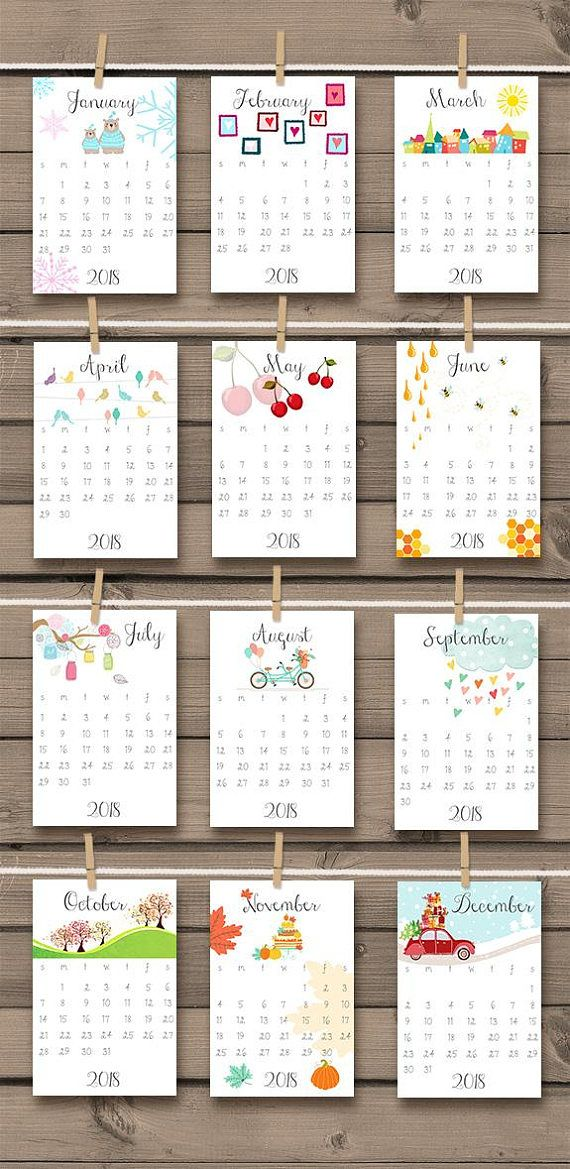 Desk Calendar Printables : Printable calendar wall desk
