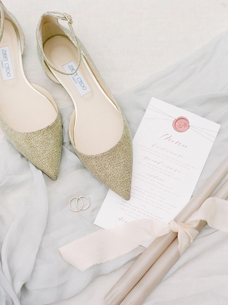 JimmyChoo | Gold wedding shoes, Gold wedding shoes flats
