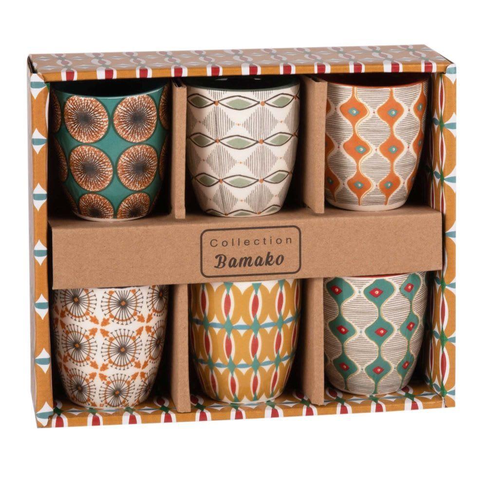 Coffret 6 tasses en faïence multicolore Maison du monde
