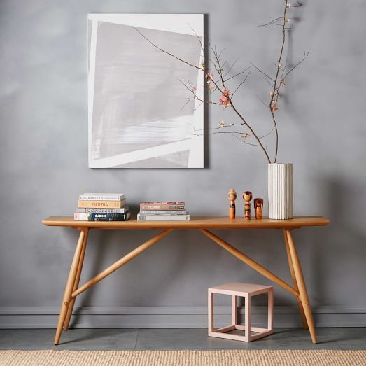 Created In Collaboration With South African Furniture Designer John Vogel,  Our Trestle Console Is The Perfect Size For An Entryway.
