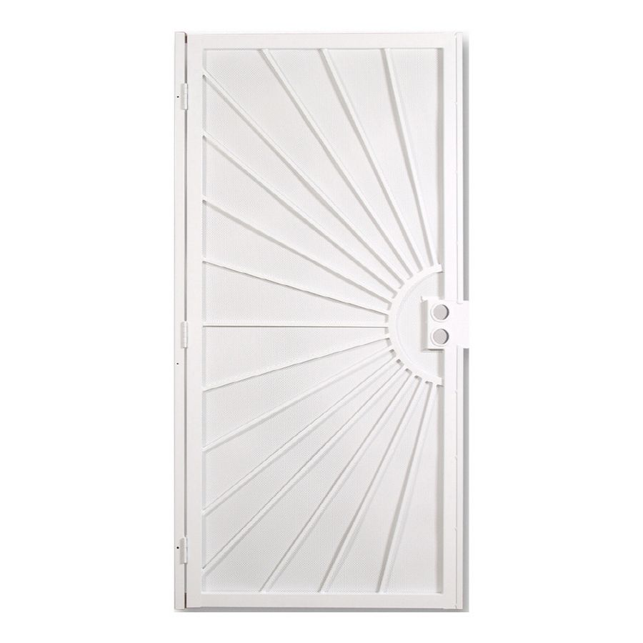 Shop Gatehouse 36 In X 81 In Sunset White Steel Security Door At