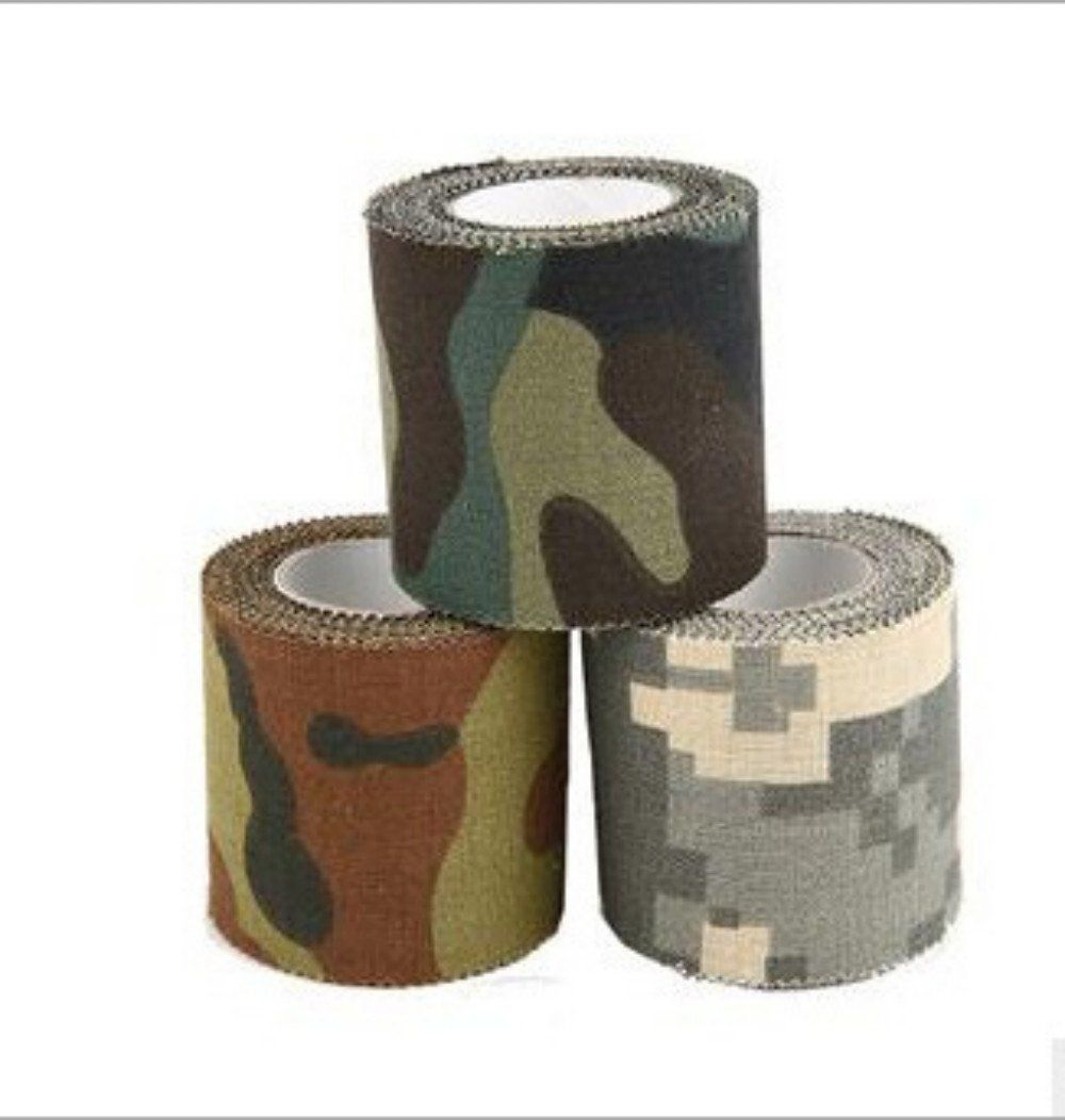 Szhoworld 3 Rolls Mini Camouflage Wrap Tape Outdoor Camo Fabric 4 5cm 5m Sports Outdoors