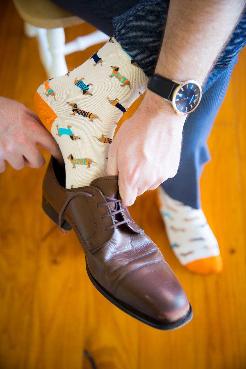 Sausage dog wedding socks we firmly believe in fancy wedding socks sausage dog wedding socks we firmly believe in fancy wedding socks these colourful crew junglespirit Choice Image