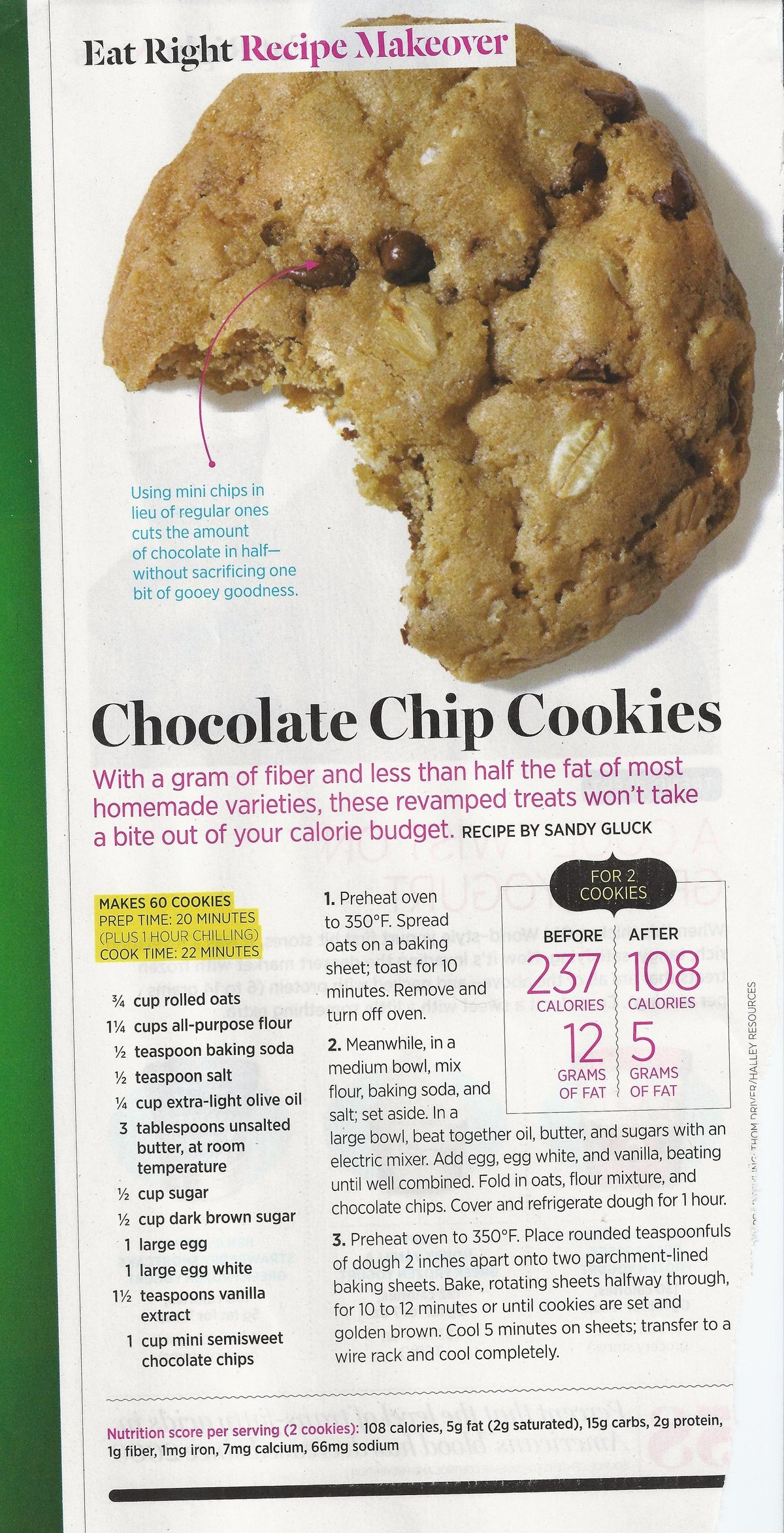 Choclate chip cookies!
