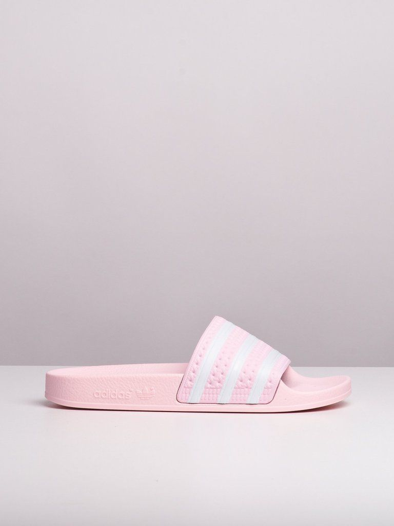 WOMENS ADILETTE - CLEAR PINK | Pink