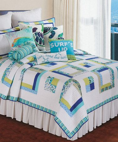 Loving This Cyan Squares Quilt On Zulily Zulilyfinds