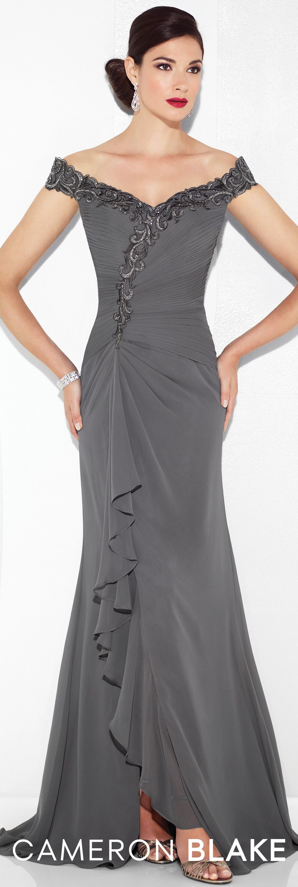 Cameron Blake - Evening Dresses - 117602 | Pewter, Formal and Gowns