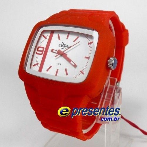 18dbb80abce KM46467B Relógio Condor New Pulseira em Poliuretano Analógo ...