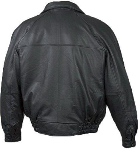 Burk's Bay Men's Lamb Leather Classic Bomber Jacket