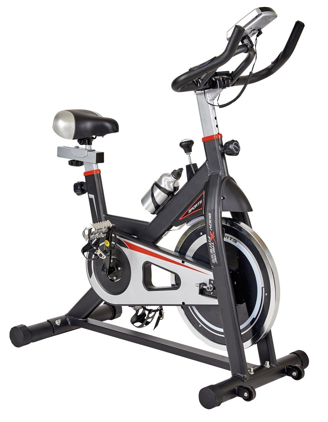 Body Xtreme Fitness Black Silver Home Exercise Bike Workout