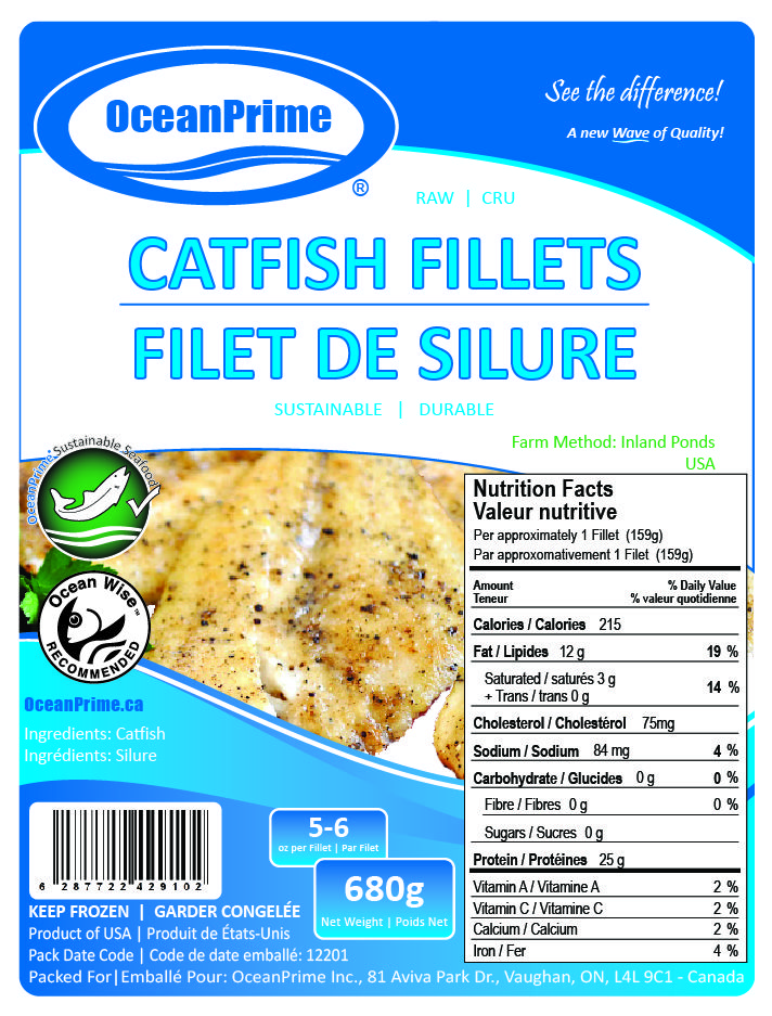 Oceanprime Catfish Nutrition Facts Fish And Seafood Ocean Wise