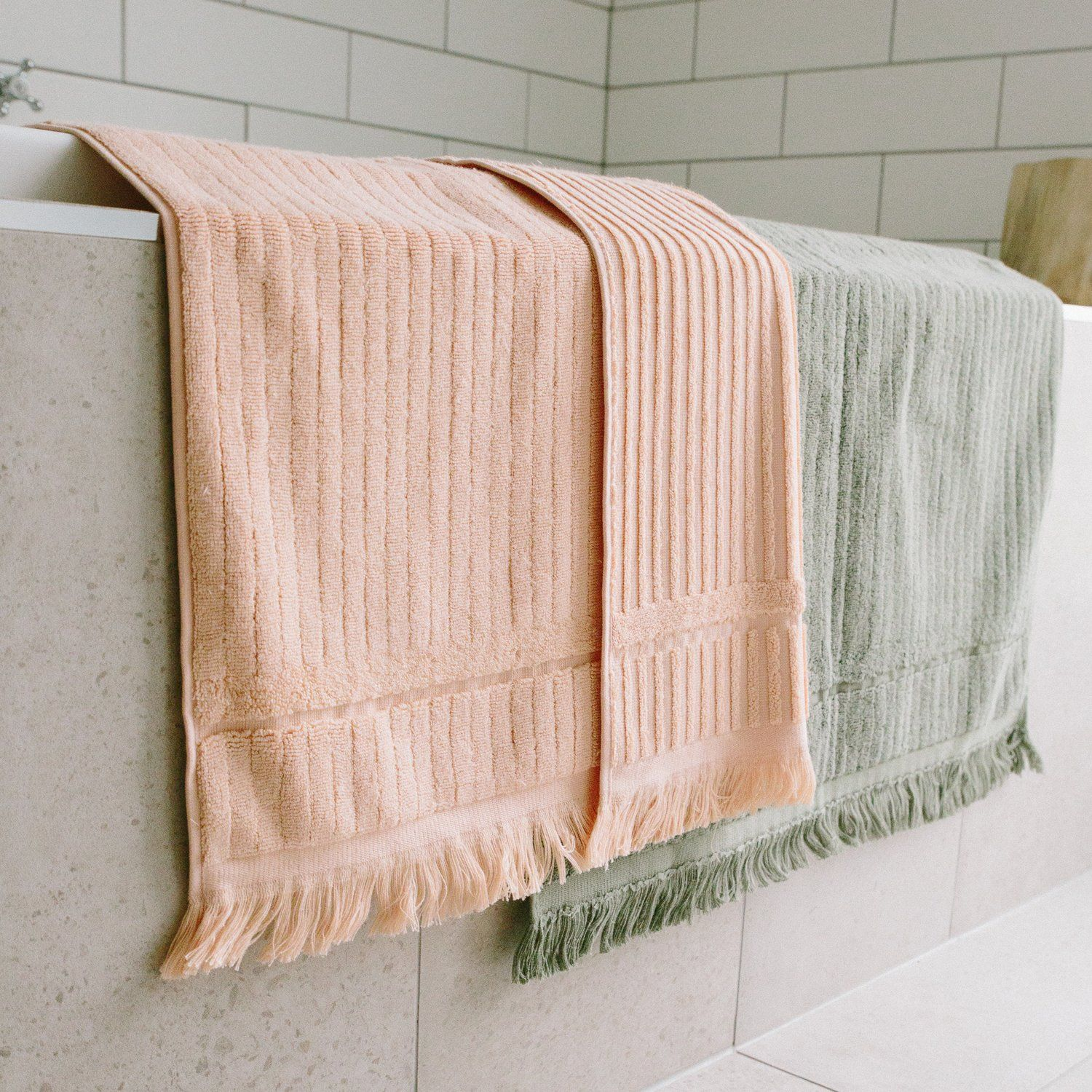 The Beach People Luxe Bath Mat Set Of 2 Paynes Gray Paynesgray