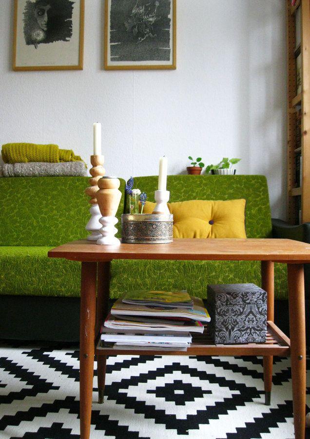 Vintage wohnzimmer grun  Grün #interior #interiorideas #einrichtung #einrichtungsideen #deko ...