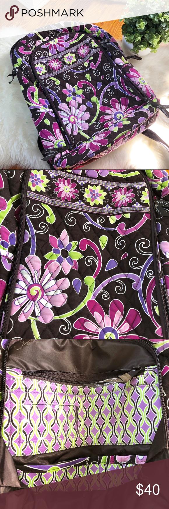 Vera Bradley Purple Punch Laptop Backpack Purple Punch (Retired pattern!) Vera  Bradley laptop ecaa058db7