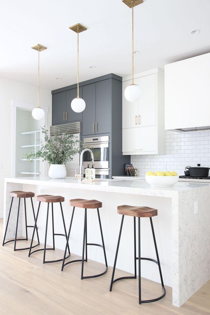 31 Elegant White Kitchen Interior Designs #greykitcheninterior