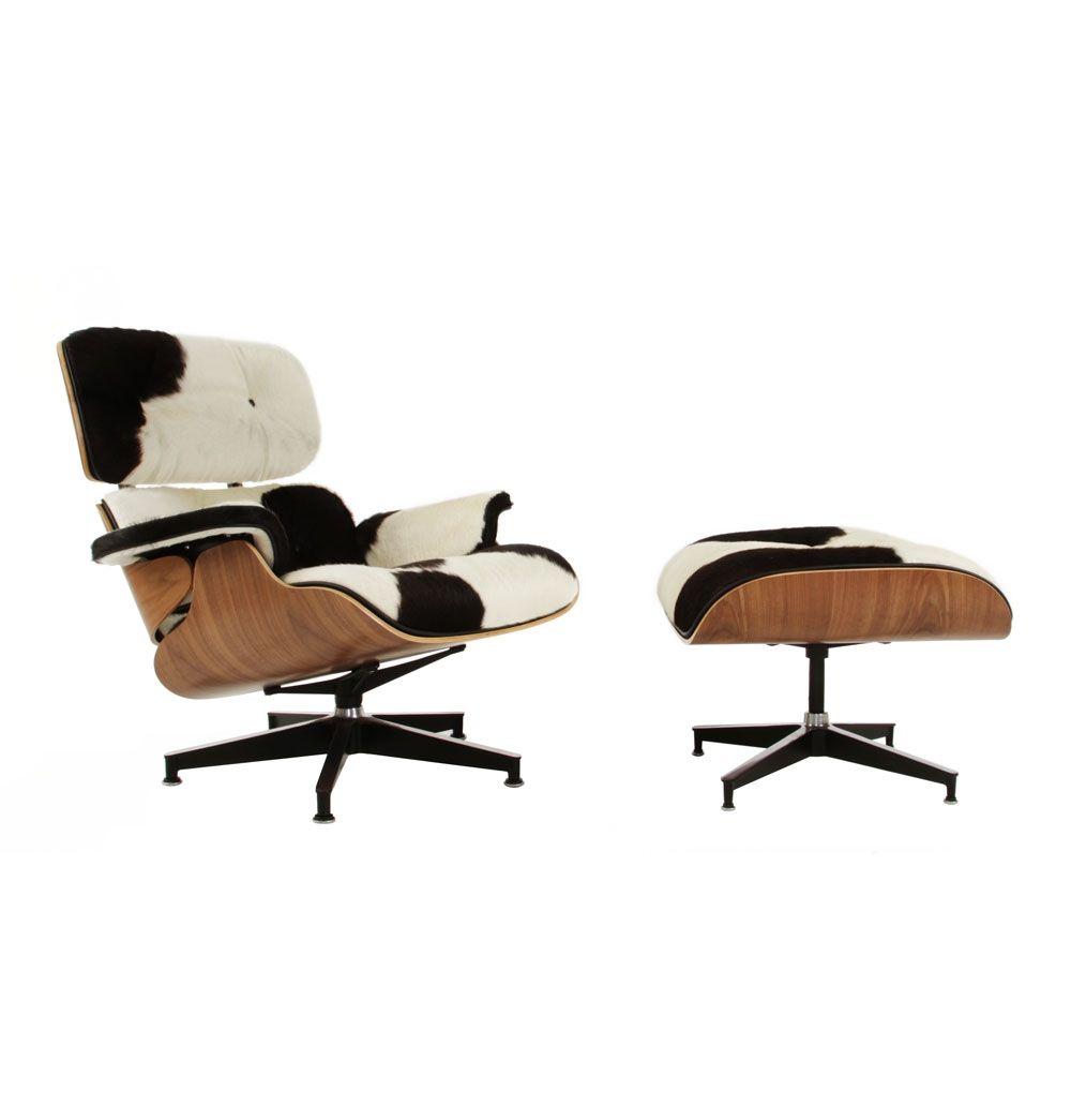 The Matt Blatt Replica Eames Lounge Chair And Ottoman (Cowhide)   Premium  Version By