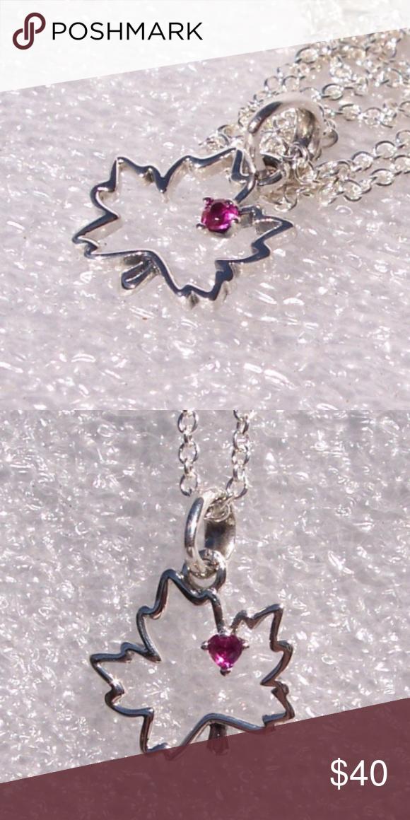 Pandora Symbol Of Canada Pendant Necklace 925 CZ A NEW