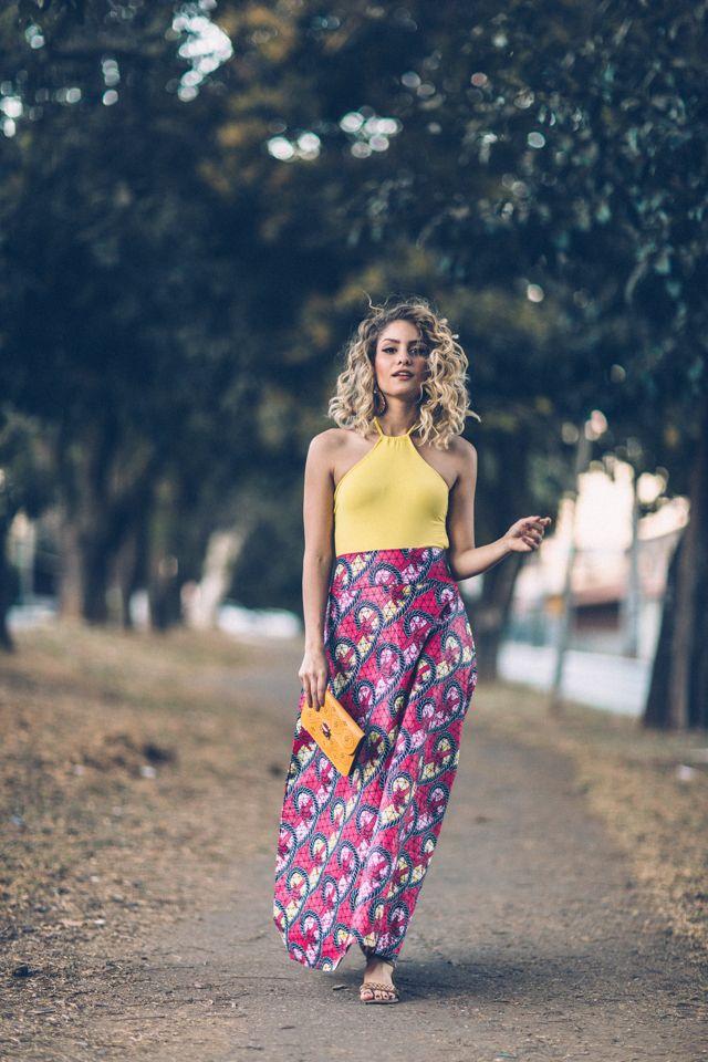 Eu quero ser estilosa: Look: Cara de praia amarelo e rosa