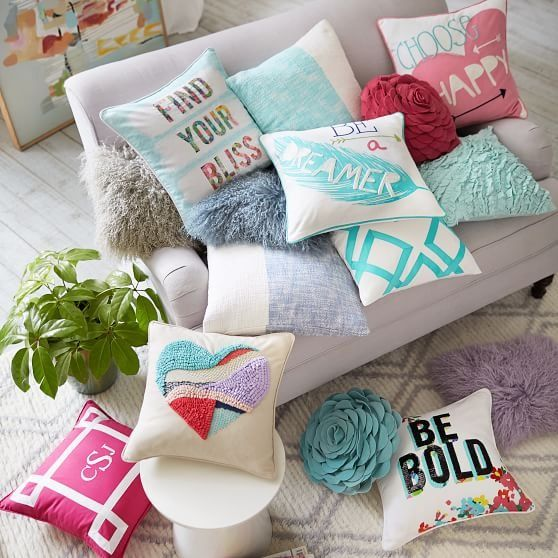 Pick A Pillow Any Pillow Pile Them On From Monogrammed To