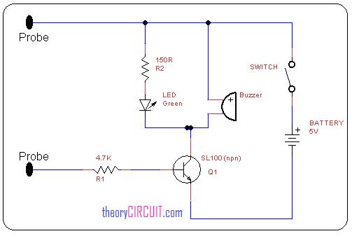 Simple Continuity Tester Circuit Diagram Circuit Diagram Simple Circuit Circuit