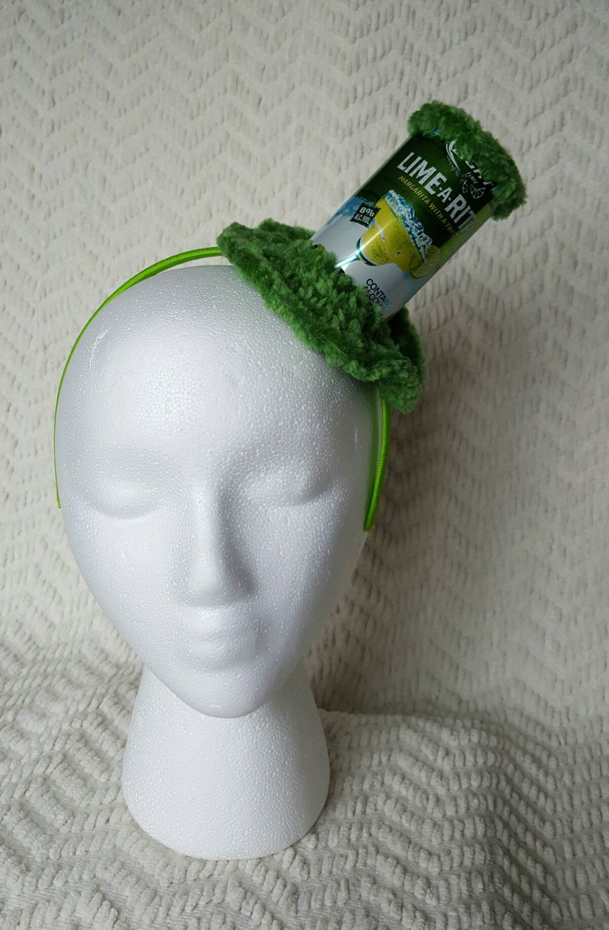 0d0afa7c19c Lime A Rita Handmade Crochet Beer Can Mini Top Hat by GiftedAcorn on Etsy