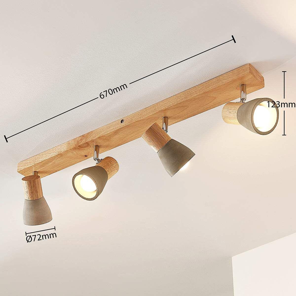 Decken Lampe grün//Holz Wohn Schlaf Zimmer Raum Beleuchtung Vintage Flur Strahler