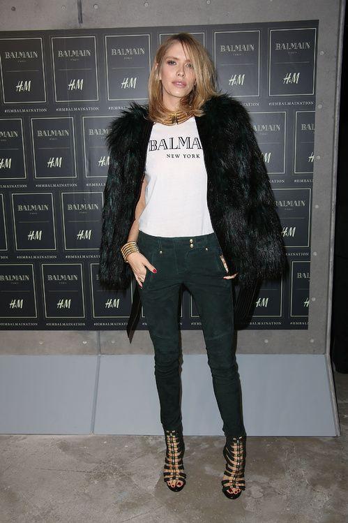 Elena Perminova http://www.vogue.fr/mode/inspirations/diaporama/les-looks-des-clbrits-au-dfil-balmain-x-hm-new-york/23261#elena-perminova
