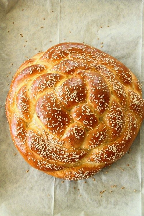 Round challah for Jewish New Year, and other traditions for this holiday at More Than Paper blog.