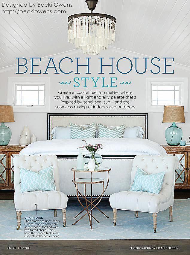 beach house style from sarah richardson board becki owens design rh pinterest com Beach House Bedroom Ideas beach house style bedrooms