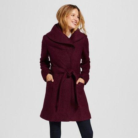 Women's Wool Blend Shawl Atlantic Burgundy XL - Merona™ : Target ...