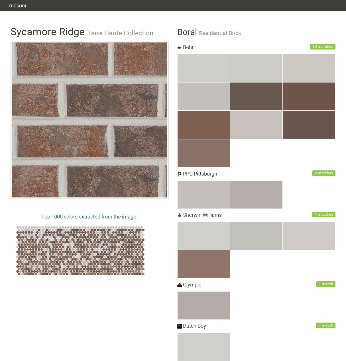 Sycamore Ridge Terre Haute Collection Residential Brick Boral Behr Ppg Paints Sherwin