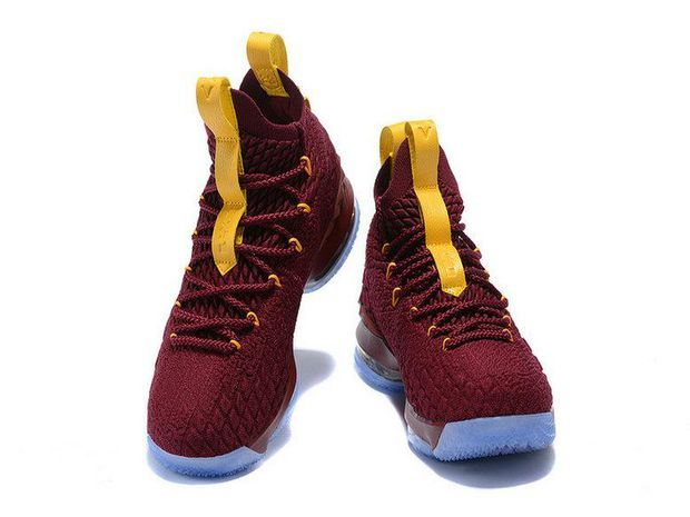 best service 4c842 27619 2018 Nike LeBron 15 Basketball Shoe Wine Gold