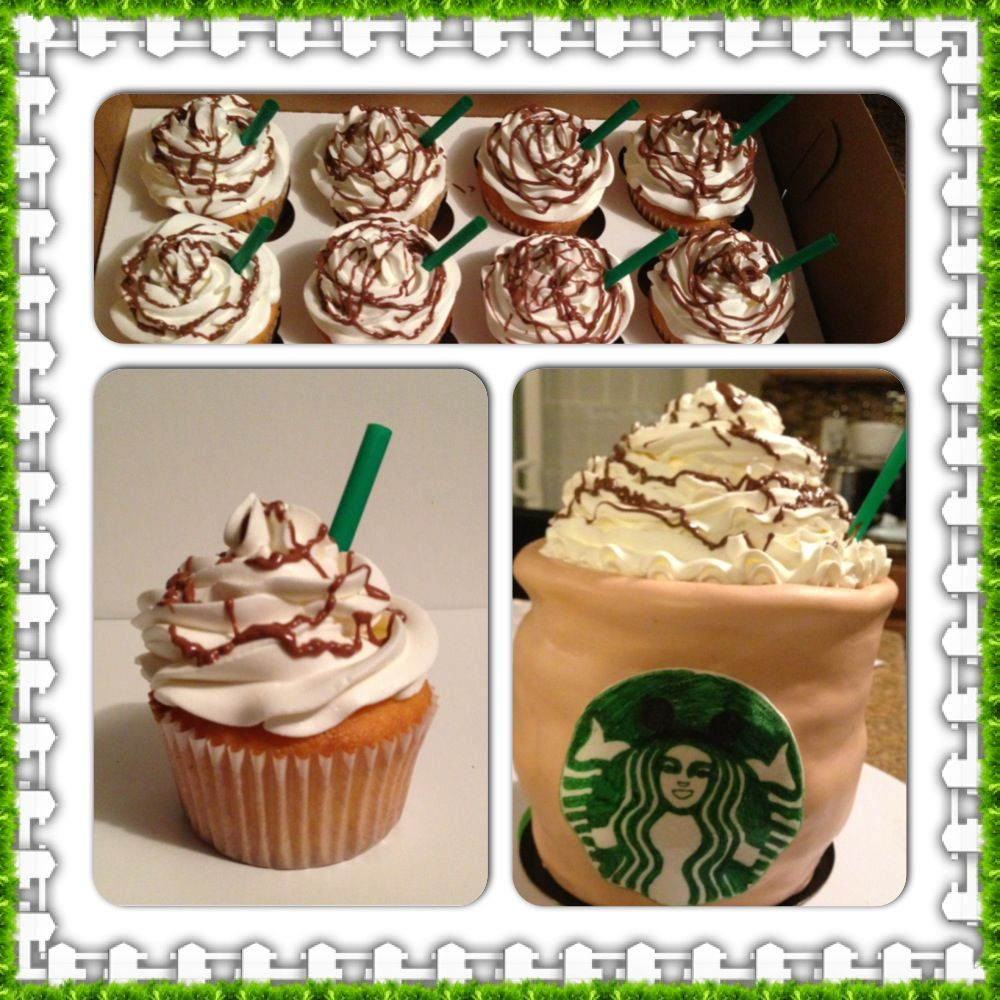 Starbucks cupcakes for a coffee or hot chocolate lover