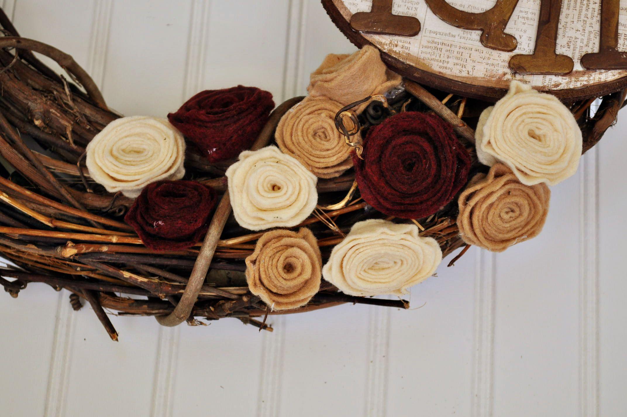 Tutorial for felt rosettes