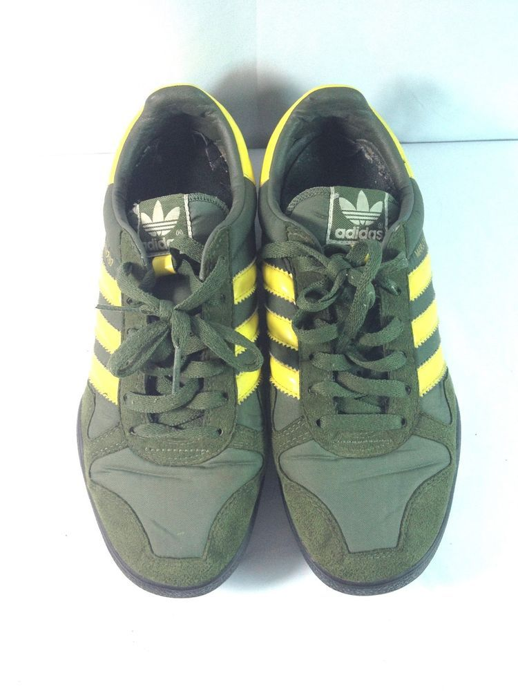 Men s Vintage Adidas Marathon 80 Gray with Yellow Stripes – U.S. size 6.5  UK 6  adidas  RunningCrossTraining 886bc1d85
