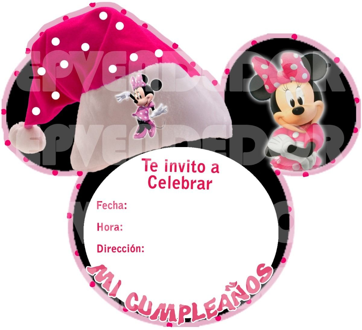 Tarjetas Invitacion Cumpleanos Casa Mickey Mouse Disney Cod