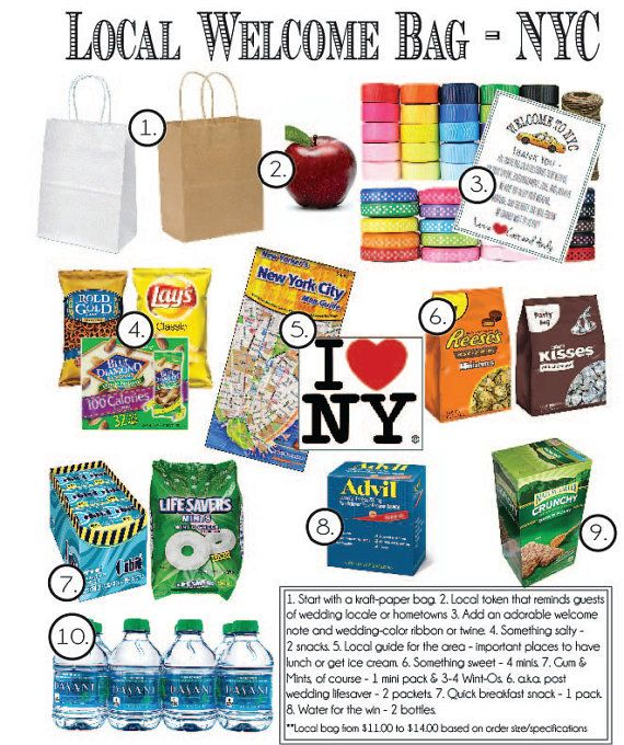 NYC Themed Wedding Welcome Bag Customized By