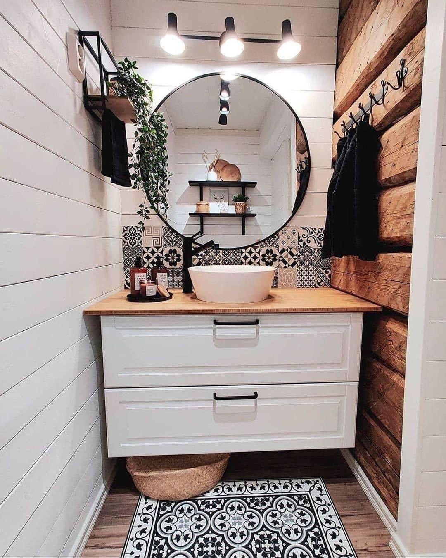 "Home with rue on Instagram: ""What do you like the most in here? via @jonnatykkaa . . . . . . . . . . #homewithrue #bathroom #bathroomdecor #homeinterior #bathroomdesign…"""