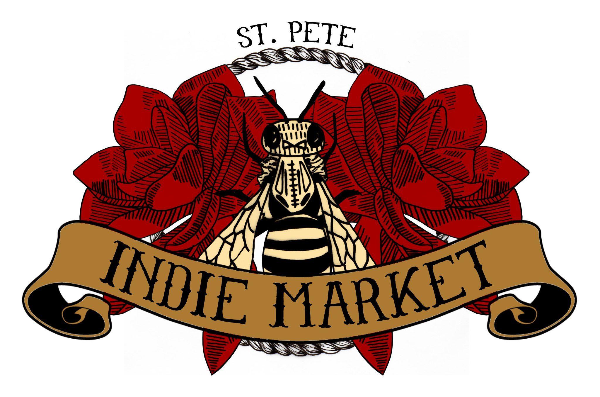 St. Pete Indie Market logo ST. PETE Event marketing
