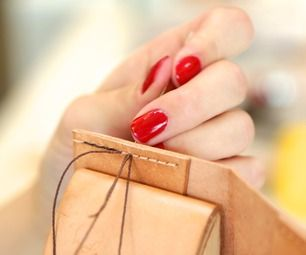 Hand sewing leather is easier than you think! I like to sew leather using a saddle stitch. It's similar to a backstitch in strength, but differs in t...