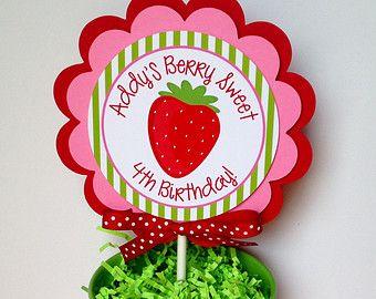 6 / baya baya dulce cumpleaños fresa por Mylittleshopsupplies