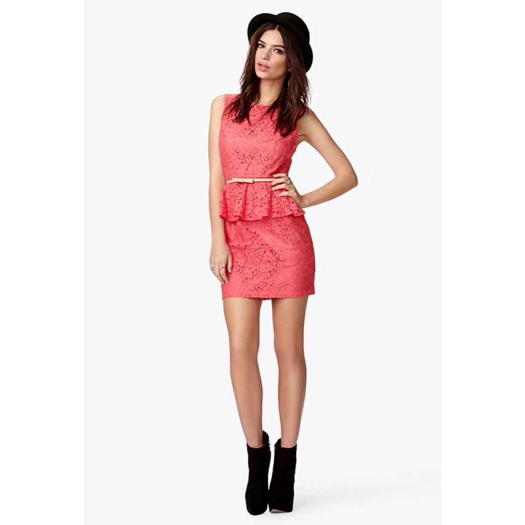 Forever 21 Nwt Lace Peplum Dress (With Images)