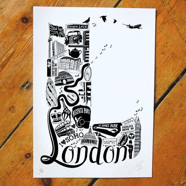 letter art Clapham wall art Clapham poster Wedding gift for friends Clapham print clapham gift London Birthday gift