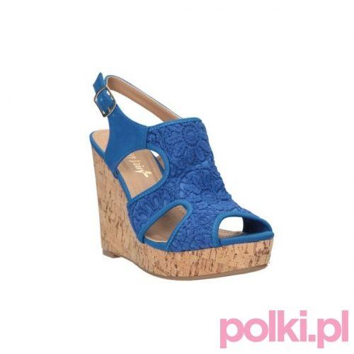 Niebieskie Sandaly Na Koturnie Ccc Buty Shoes Polkipl Shoes Spring Summer Spring Shoes Summer Collection