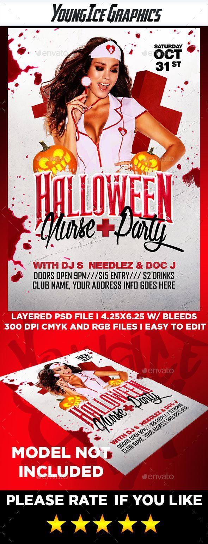 Halloween Nurse Party Flyer | Nurse party, Party flyer and Flyer ...