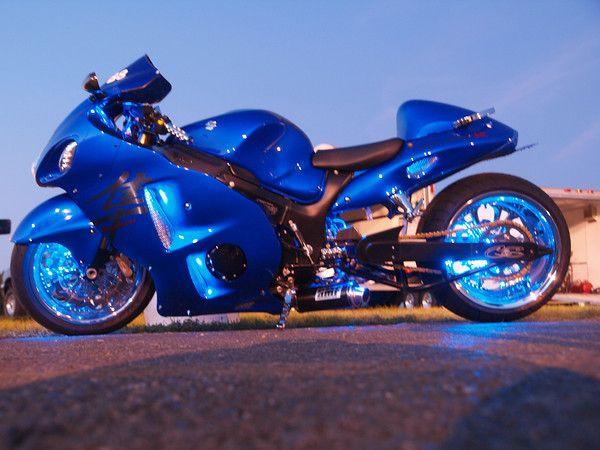 Blue Berry Hayabusa Sport Bikes Motorcycle