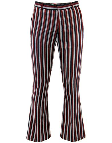 05466bb9d72954 Image result for bell bottom mens pants. Midnight Lamp Retro 1960s Mod  Striped ...