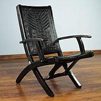 Tornillo Wood And Leather Chair, U0027Inca Godsu0027
