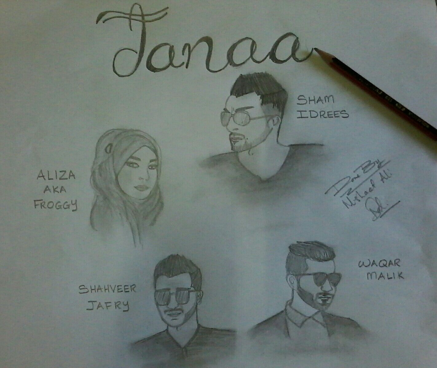 A Sketch Done By Me Nishaat For An Amazing Youtube Drama Jaana