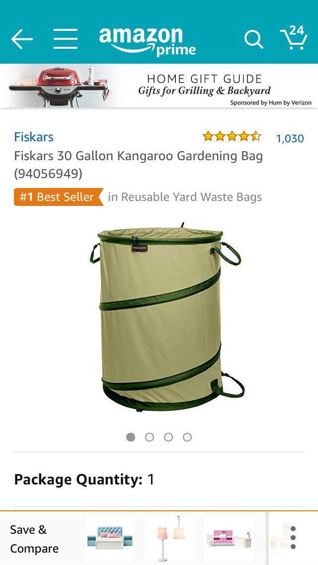 45950f5378bb767670e870b31e55fc7e - Fiskars 30 Gallon Kangaroo Gardening Bag